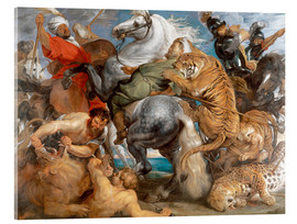 Acrylic print  The Tiger Hunt - Peter Paul Rubens