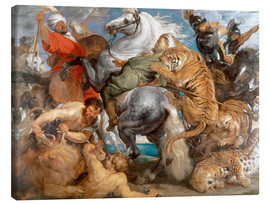 Canvas  The Tiger Hunt - Peter Paul Rubens