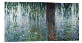 Claude Monet - Waterlilies: Morning with Weeping Willows (detail)