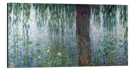 Aluminium print  Waterlilies: Morning with Weeping Willows (detail) - Claude Monet