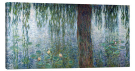 Canvas print  Waterlilies: Morning with Weeping Willows (detail) - Claude Monet