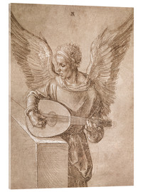 Acrylic print  Angel playing a lute - Albrecht Dürer