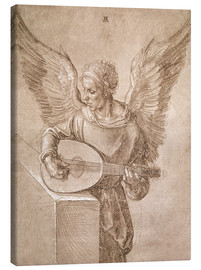 Canvas  Angel playing a lute - Albrecht Dürer