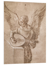 Foam board print  Angel playing a lute - Albrecht Dürer