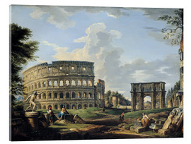 Acrylic glass  The Coliseum and the Arch of Constantine - Giovanni Paolo Pannini