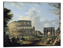 Aluminium print  The Coliseum and the Arch of Constantine - Giovanni Paolo Pannini