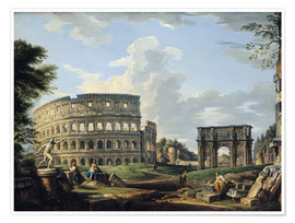 Premium poster The Coliseum and the Arch of Constantine