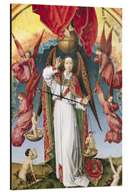Aluminium print  Last Judgment, St. Michael, Weighing Souls - Rogier van der Weyden