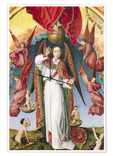 Premium poster Last Judgment, St. Michael, Weighing Souls