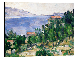 Aluminium print  View of Mount Marseilleveyre and the Isle of Maire - Paul Cézanne