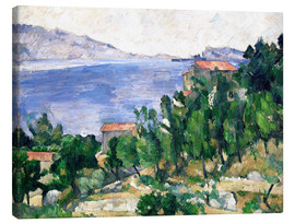 Canvas  View of Mount Marseilleveyre and the Isle of Maire - Paul Cézanne