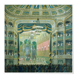 Premium poster  View of the Parisian opera stage - French School