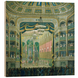 Wood  View of the Parisian opera stage - French School