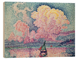 Wood print  Antibes - Paul Signac