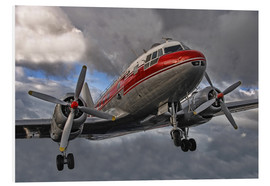 Foam board print  old lady of aviation - Joachim G. Pinkawa