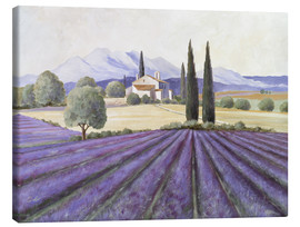 Canvas print  Lavender Fields - Franz Heigl
