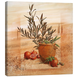Canvas print  Pomegranate and olive harvest - Franz Heigl