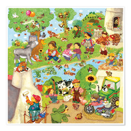 Premium poster Nursery songs I