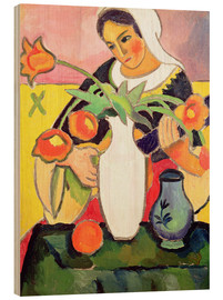 Wood print  The Lute Player - August Macke