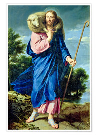 Premium poster  The Good Shepherd - Philippe de Champaigne