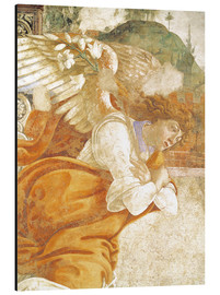 Aluminium print  The Annunciation, detail of the Archangel Gabriel - Sandro Botticelli