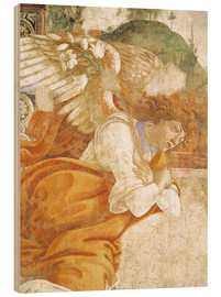 Wood print  The Annunciation, detail of the Archangel Gabriel - Sandro Botticelli