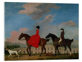Acrylic glass  John and Sophia Musters riding at Colwick Hall - George Stubbs