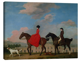 Canvas print  John and Sophia Musters riding at Colwick Hall - George Stubbs