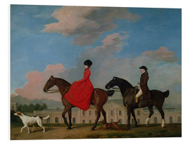 Foam board print  John and Sophia Musters riding at Colwick Hall - George Stubbs
