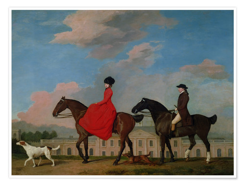 Premium poster John and Sophia Musters riding at Colwick Hall