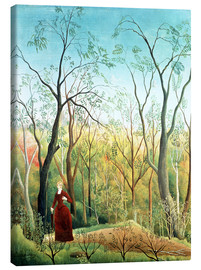 Canvas  The Walk in the Forest - Henri Rousseau