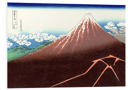 Foam board print  Fuji above the Lightning - Katsushika Hokusai