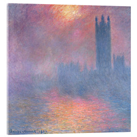 Acrylic glass  The Houses of Parliament - Claude Monet