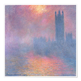 Premium poster  The Houses of Parliament - Claude Monet