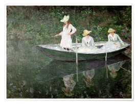 Premium poster  The Boat at Giverny - Claude Monet