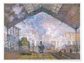Premium poster  The Gare St. Lazare - Claude Monet