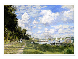 Premium poster  The Marina at Argenteuil - Claude Monet