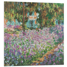 Foam board print  The Artist's Garden at Giverny - Claude Monet