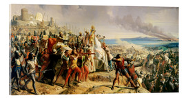 Acrylic print  The Battle of Montgisard - Charles-Philippe Lariviere