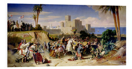 Foam board print  The capture of Beirut by the Crusaders in 1197 - Alexandre-Jean-Baptiste Hesse