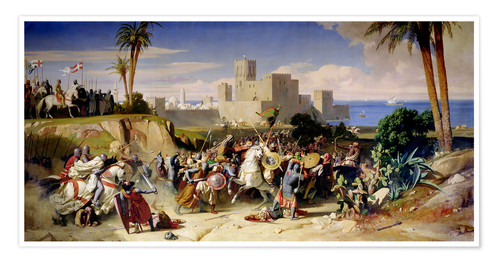 Premium poster The capture of Beirut by the Crusaders in 1197