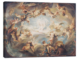 Canvas print  The Triumph of Cupid over all the Gods - Gabriel de Saint-Aubin