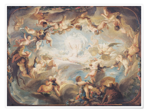 Premium poster The Triumph of Cupid over all the Gods