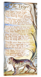 Acrylic print  The Tyger - William Blake