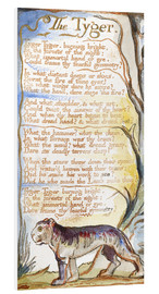 Foam board print  The Tyger - William Blake