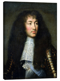 Canvas  Portrait of Louis XIV - Charles Le Brun