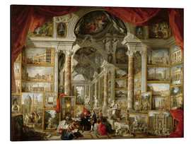 Aluminium print  Gallery with pictures of Modern Rome - Giovanni Paolo Pannini