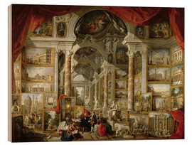 Wood print  Gallery with pictures of Modern Rome - Giovanni Paolo Pannini