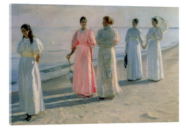 Acrylic print  Ladies on the beach - Michael Peter Ancher