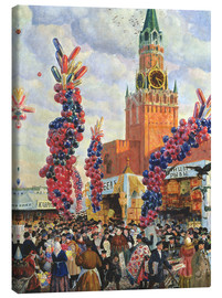 Canvas print  Easter Market at the Moscow Kremlin - Boris Mihajlovic Kustodiev